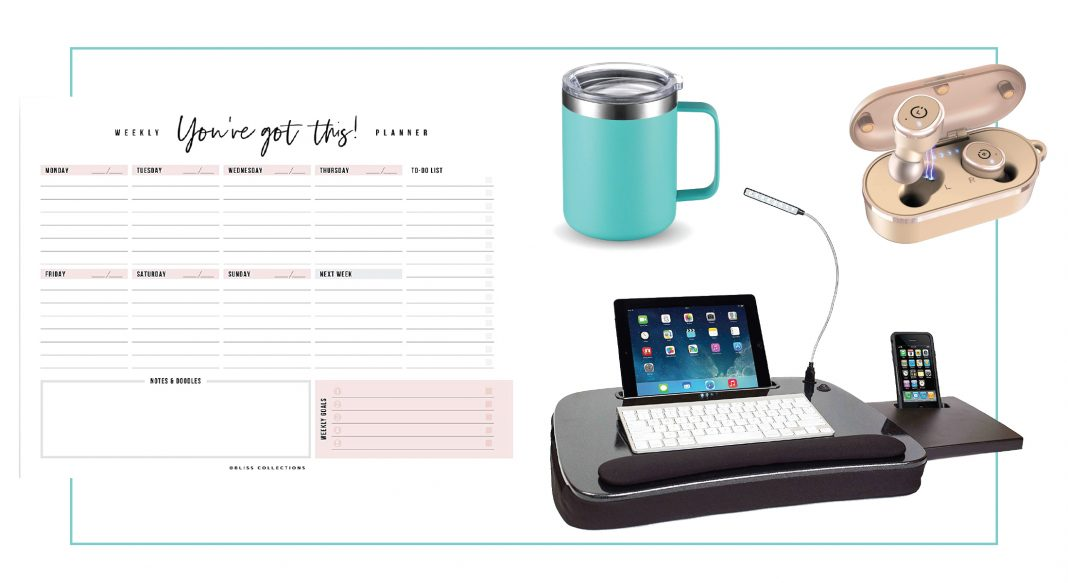Let's do this. Working from home requires a lot of organization + a little comfort. Our list of 10 home office essentials has both. Work it, y'all.