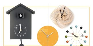 Right now: 24 cool, modern wall clocks — some w/ numbers, some without. For kitchen, living room, bathroom, wherever we're passing the time #AtHome.