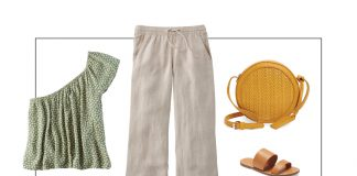Wrap tops, button up shirts, v necks, blouses...we're pairing all these nursing-friendly styles with cute, drawtring linen pants for postpartum outfits. Hello, baby!