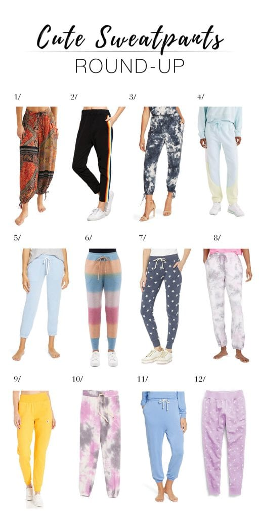 Looking for loungewear? Us too. We found 12 pairs of cute sweatpants & joggers (think tie-dye, ankle crops, high-waisted, Vince, Free People...) for comfort rn.