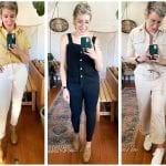 Fresh spring outfits that are also comfy? YES, PLEASE! Everlane's earthy pastels are poppin'. Jeans, jumpsuits, clogs & the Court sneakers are SO Good.