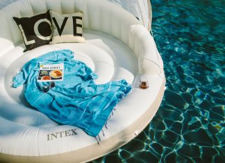 For summer, we're dreaming of pools, butterfly floats, Fat Boys, loungers & fun pool games — a backyard or patio poolside oasis, if you will. Join us.