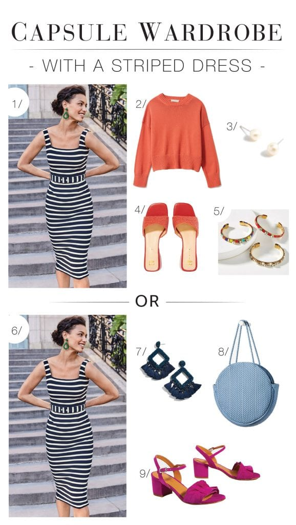 Tall mamas: consider this inspo for your capsule wardrobe. Our reader's easy, classic & playful personal style brings us linen pants, midi skirts & striped dresses.