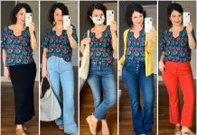 A pretty smocked blouse from Anthro is giving me (& my Zoom video calls) life...Styling 11 outfit ideas. Bonus: comes in petite, regular, plus size, is nursing-friendly too!!