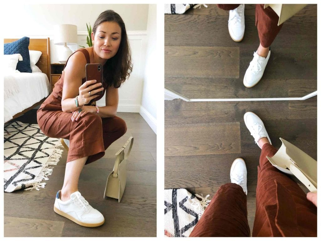Everlane keeps bringing the good stuff: a linen jumpsuit, the '90s Cheeky Straight Jeans, the sustainable Day Glove in ReKnit & the Court Sneaker. Our review.
