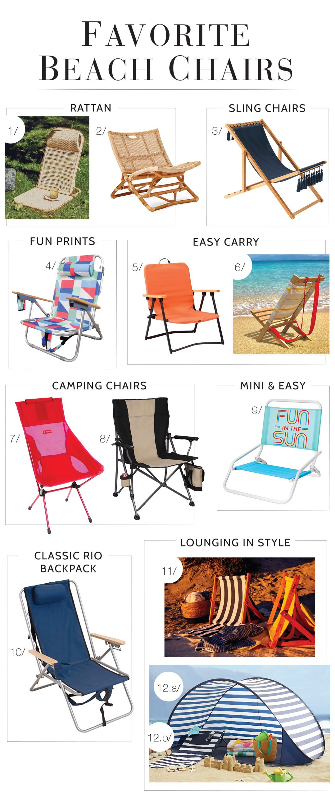So many lounge chairs! We've got rattan, folding & easy-carry chairs, the best chairs for camping, sling loungers & beach chairs for the kids. Let's go!