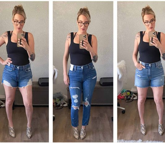 We kinda fell in love w/ the Abercrombie Curve Love line when we found their mom jeans, & now we're going in to review the denim shorts & high rise skinny jeans.