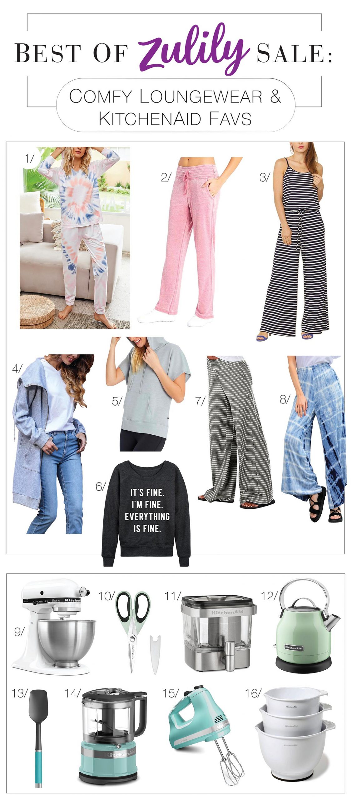 All we need for baking cake & eating it too (cute loungewear AND quality kitchen appliances (think KitchenAid)) is on Zulily! Snap up a tie-dye sweatsuit!