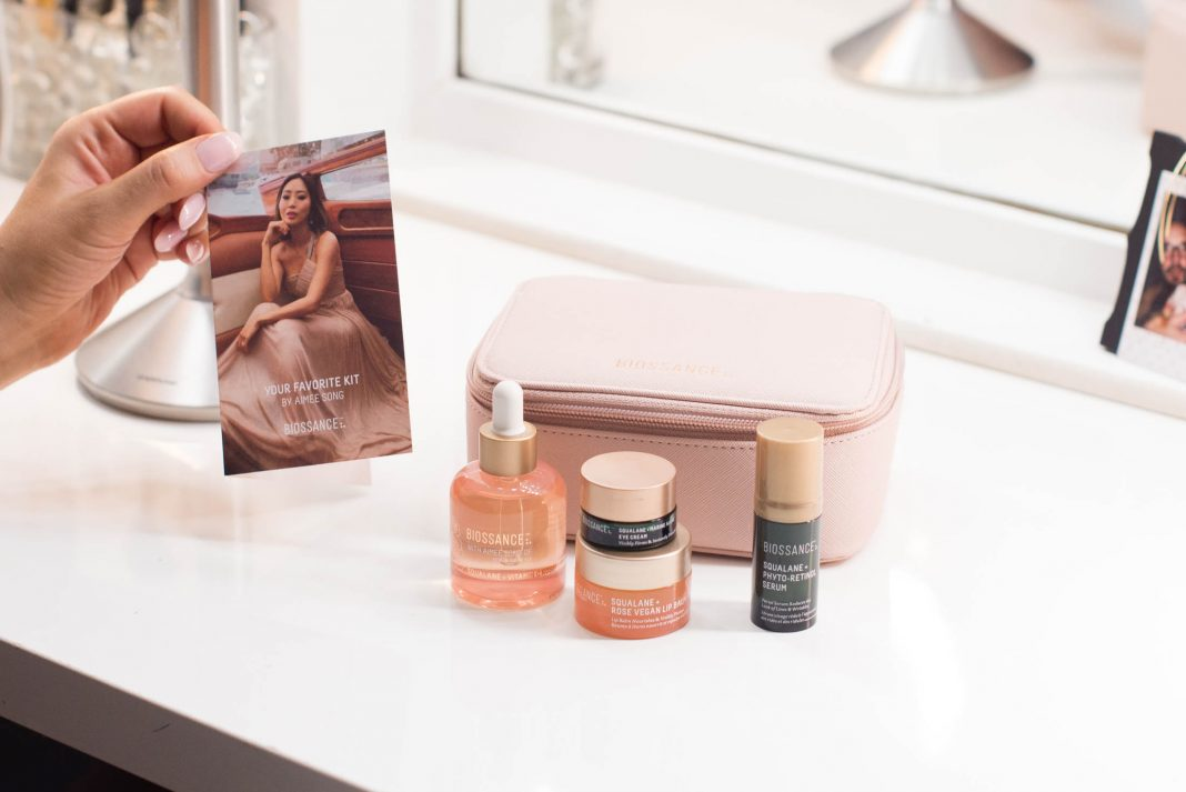 Reviewed: a nontoxic & cruelty-free skincare kit by Biossance. Curated w/ Aimee Song (Song of Style), Your Favorite Kit features squalane for a clean beauty boost.