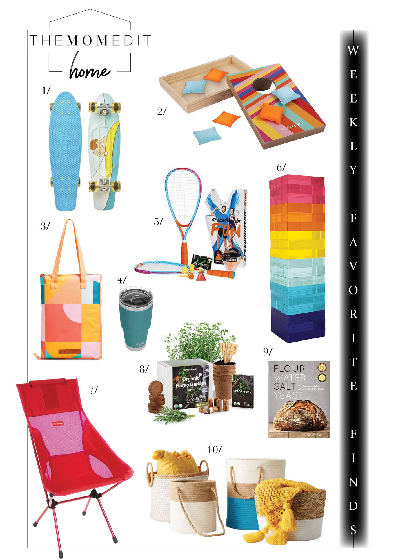 Skateboarding, cornhole, picnic blankets, herb gardens & more ways to have socially distant fun this summer. Plus sales at Wayfair, CB2 & Williams-Sonoma.