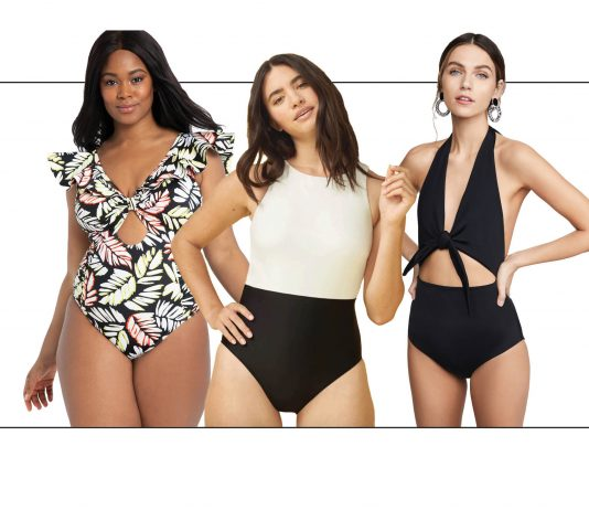 The best sustainable, postpartum & plus-size swimwear + sexy bathing suits, like cheeky 1-piece suits. Shop it all in the 2020 Swim Guide by The Mom Edit.