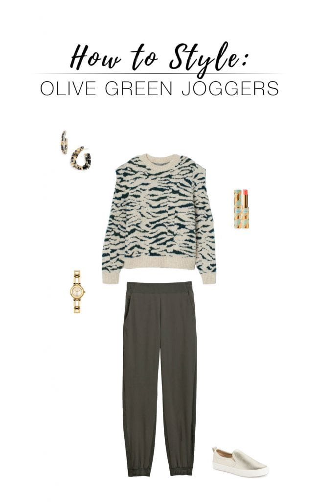 We're eyeing the Athleta Texture Brooklyn Joggers in gorgeous olive green. We've got 6 classy, casual outfit ideas...taking comfy loungewear next level.