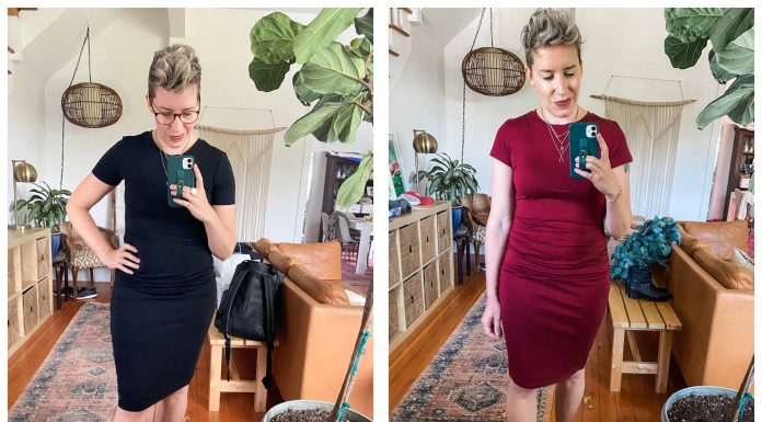 Which summer dress is best? The ruched bodycon mini dress is an outfit staple, but Amazon & Nordstrom each have 1. Battle of the t-shirt dresses, here.