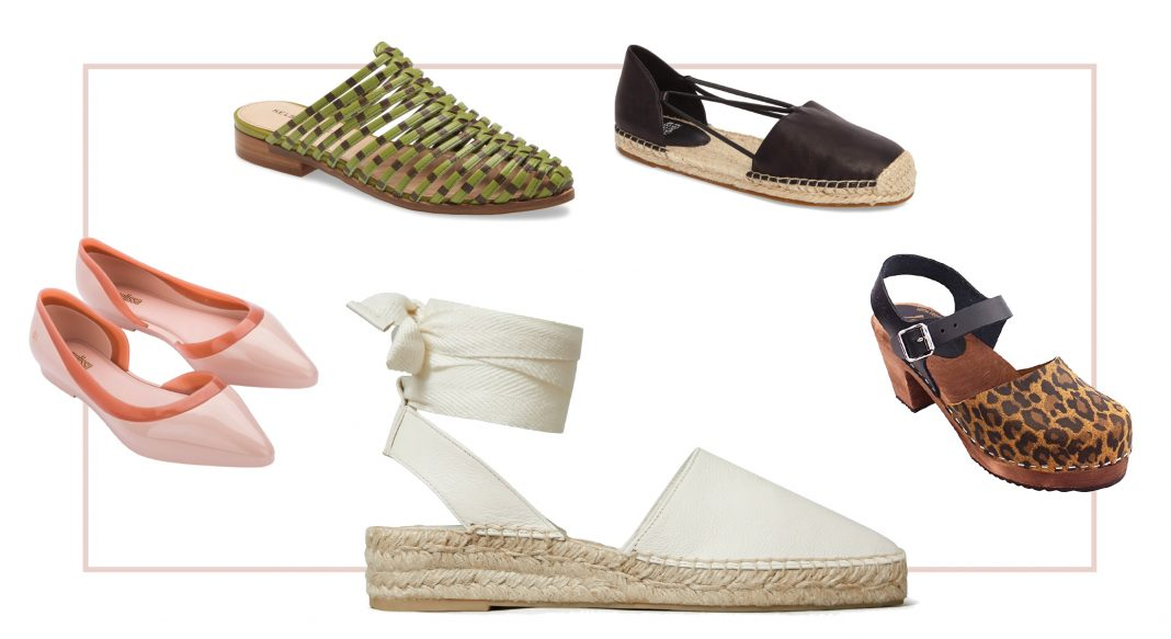 No pedicure? No problem. We're shopping espadrilles, flats, clogs, mules & sporty sandals for this summer's cutest closed-toe shoes. Let's shop.