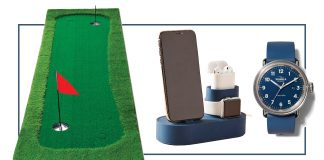 Keepin' it light for Father's Day. Think putting greens & putters for the golfer, a few fun water sport ideas, a li'l tech + time pieces, & of course, t-shirts.