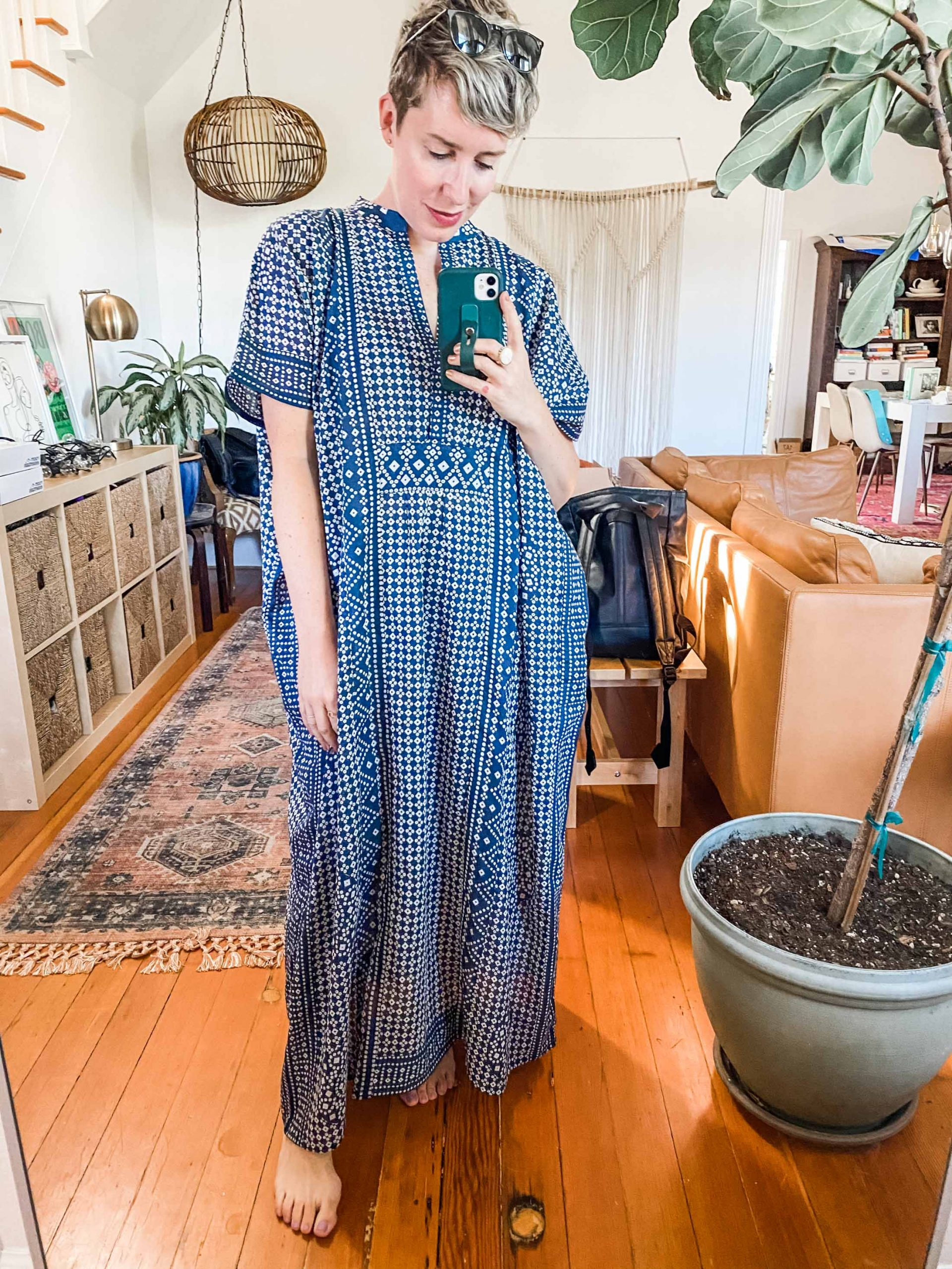 This summer is all about comfort. That's why Emerson Fry Caftans are my hot weather go to. Beautiful patterns + sustainable practices makes these a 10/10
