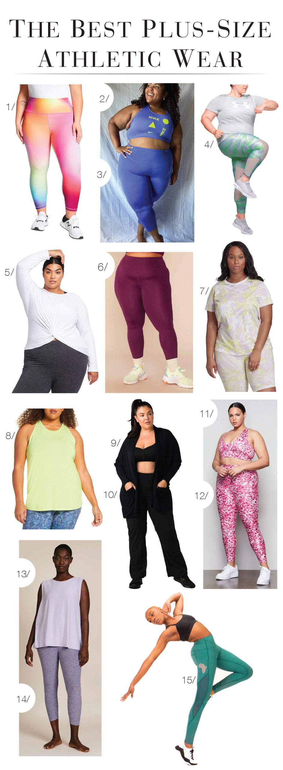 We're thrilled these brands offer plus-size activewear & can't wait to shake our bum bum. Under Armour, Adidas, Prana, Zella, Athleta & Nike are killing it.