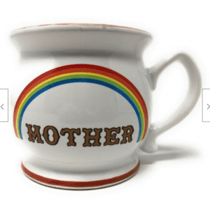 Start the day w/ coffee or end it w/ tea...in a cup that says love is love is love. Rainbows & Pride. 1-of-a-kind & made-to-order vintage, handmade & ready to ship.