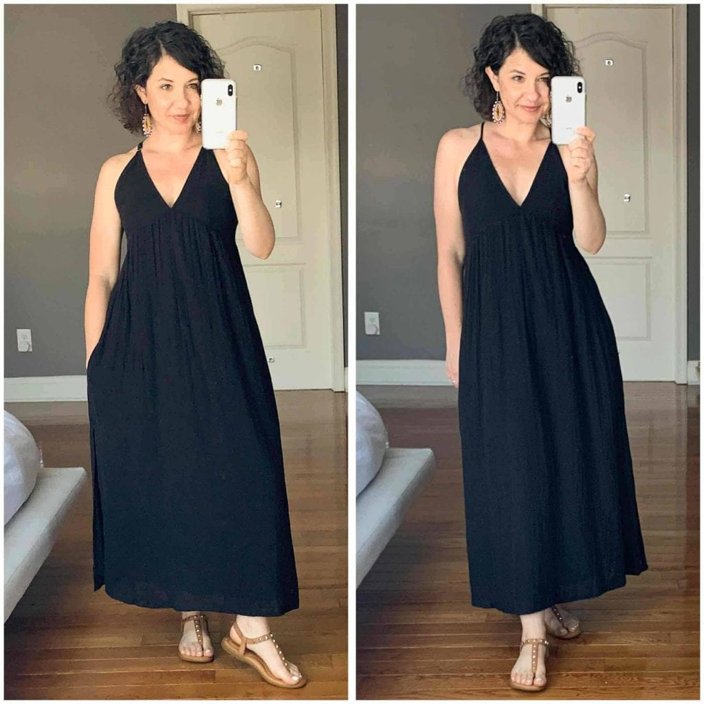 This cloud-soft cotton gauze maxi dress is everything for summer. It's sexy, cute & casual + sustainable from Philly's Voloshin, small-batch fashion co.