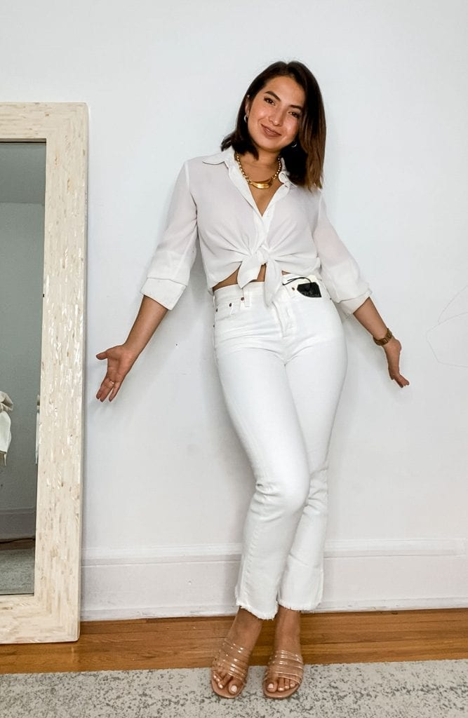 The best white jeans? We tried 5 pairs to find the perfect shade & fit. From Levi's 501 crop to AGOLDE Pinch waist high-rise, check out our video review.