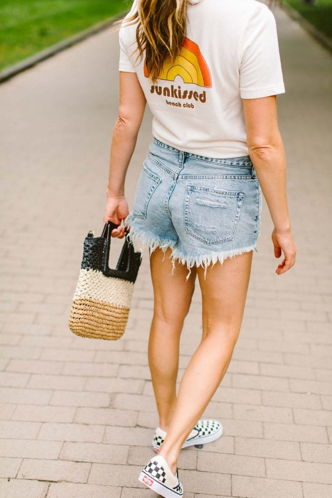 Denim cutoffs need cute summer tops to play with. Luckily, Nordstrom has a huge selection of pretty white tops & tanks; we found 3. Outfit ideas, right here.