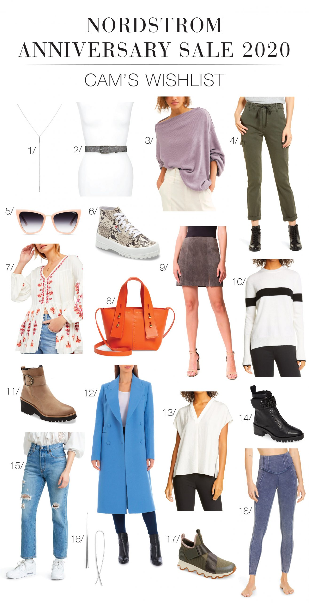 I spy w/ my li'l eye a seriously good FRAME crossbody bag, a double-breasted wool blend coat & killer platform boots. Nordstrom Anniversary Sale — let's shop!