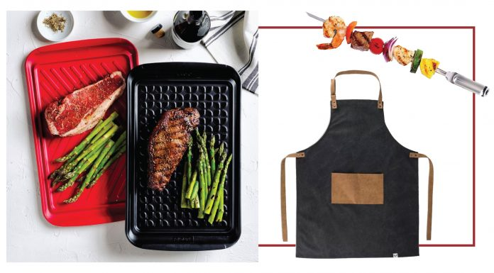 For summer grilling, we have a few tips & tricks: think grill accessories like smart prep trays, skewers & pizza stones + recipes like beer can chicken & veggie trays.