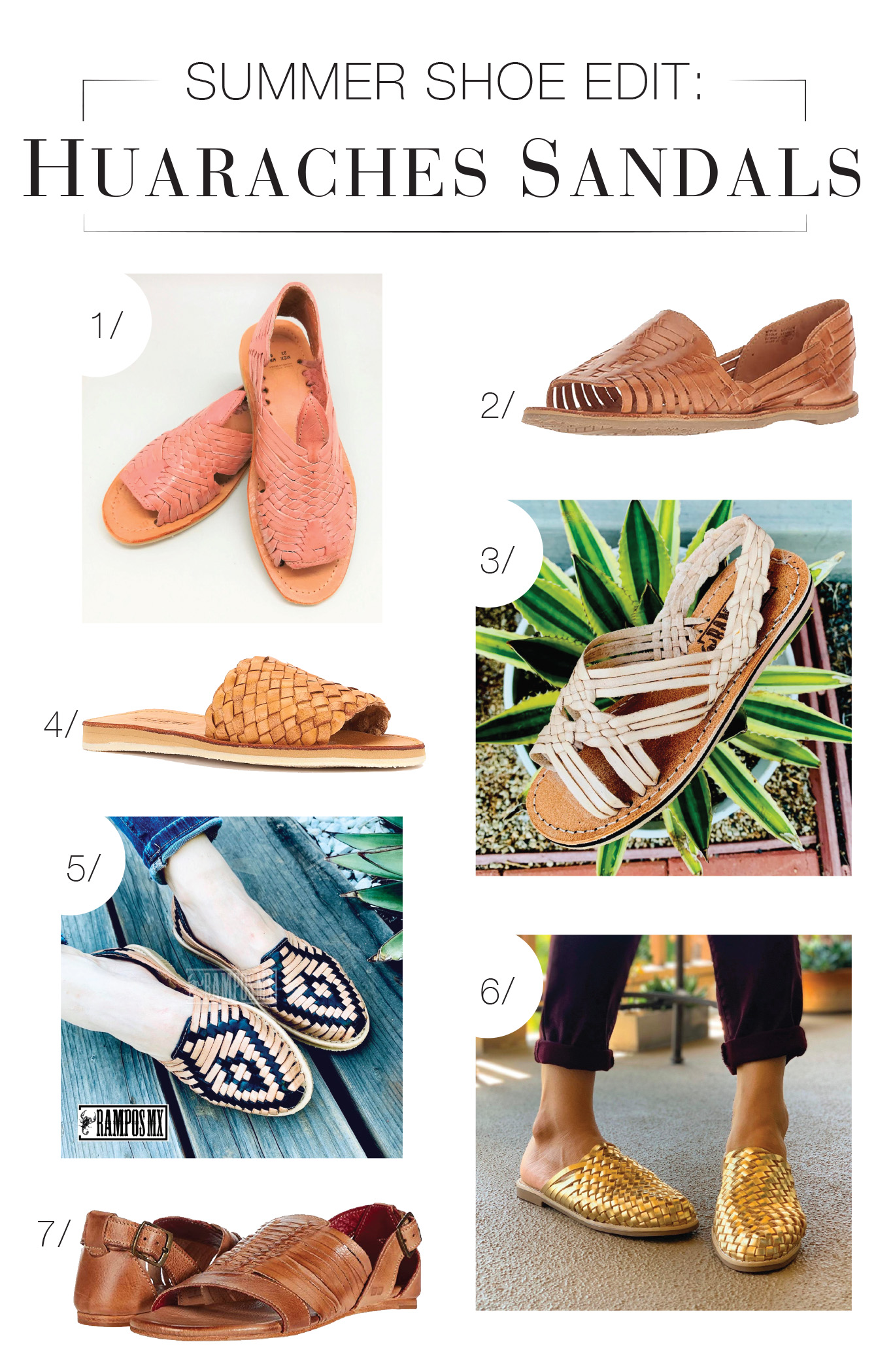 """I've had various woven sandals that were cute, but nothing like classic huaraches. Here's our roundup: some handmade from Etsy & some """"inspired-by"""" styles."""