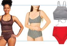 We're shopping for supportive swimsuit tops for teens/pre-teens (not too racy or mature.) We found fun, bright suits at Athleta, Target & more.