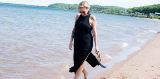 Maxi dresses are often comfier (& cooler) than shorter dresses. Our summer fave is the black Athleta Destination dress — it's loose, w/ side slits. So good.