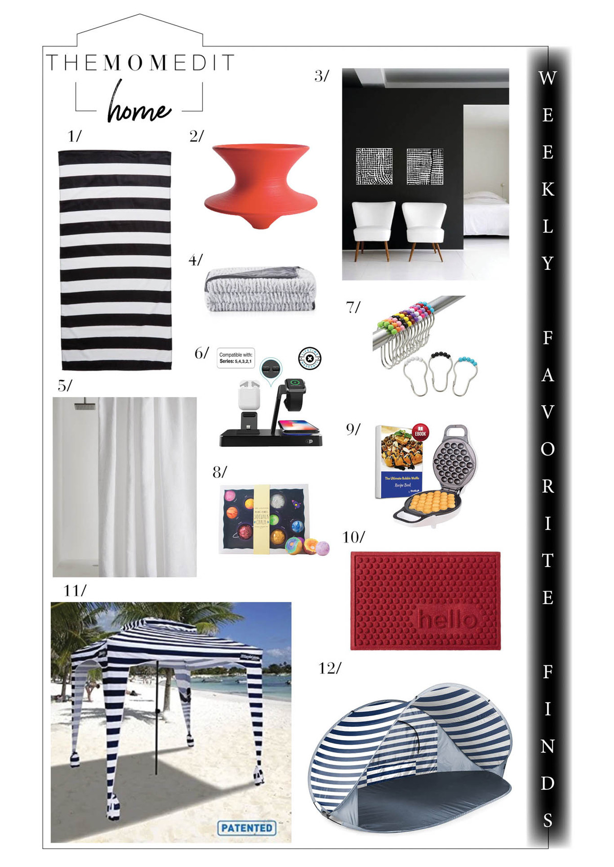 We're shopping fun decor in black & white, for outdoors & in, for #stayathome & distant socializing. Plus, the Sable Collective & an #NSale wishlist.