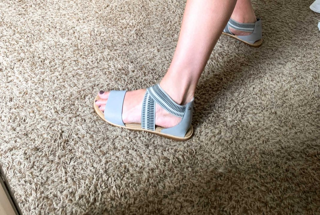 Well, Sorel got us again. First, it was the fluffy, sneaker-like winter boots...now? These flat, gladiator-style sandals. Hello, Ella!