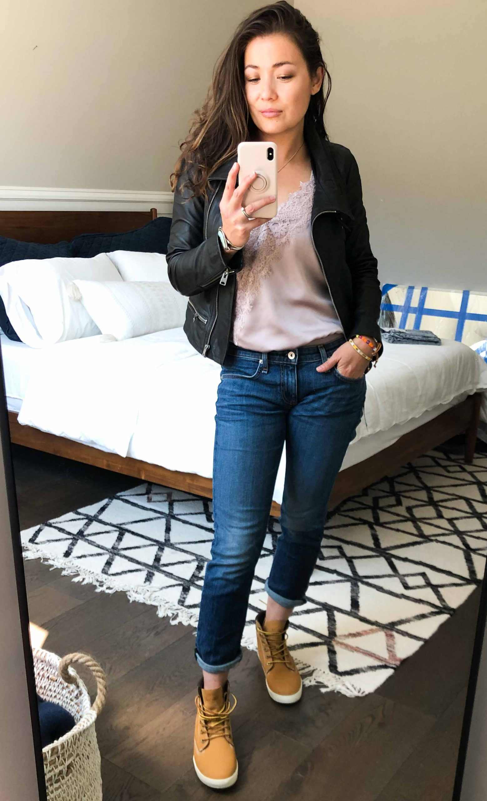 Cole Haan mules, Timberland sneaker boots & Marc Fisher booties...all 3 look SO GOOD w/ loungewear, for date night & of course....with jeans.