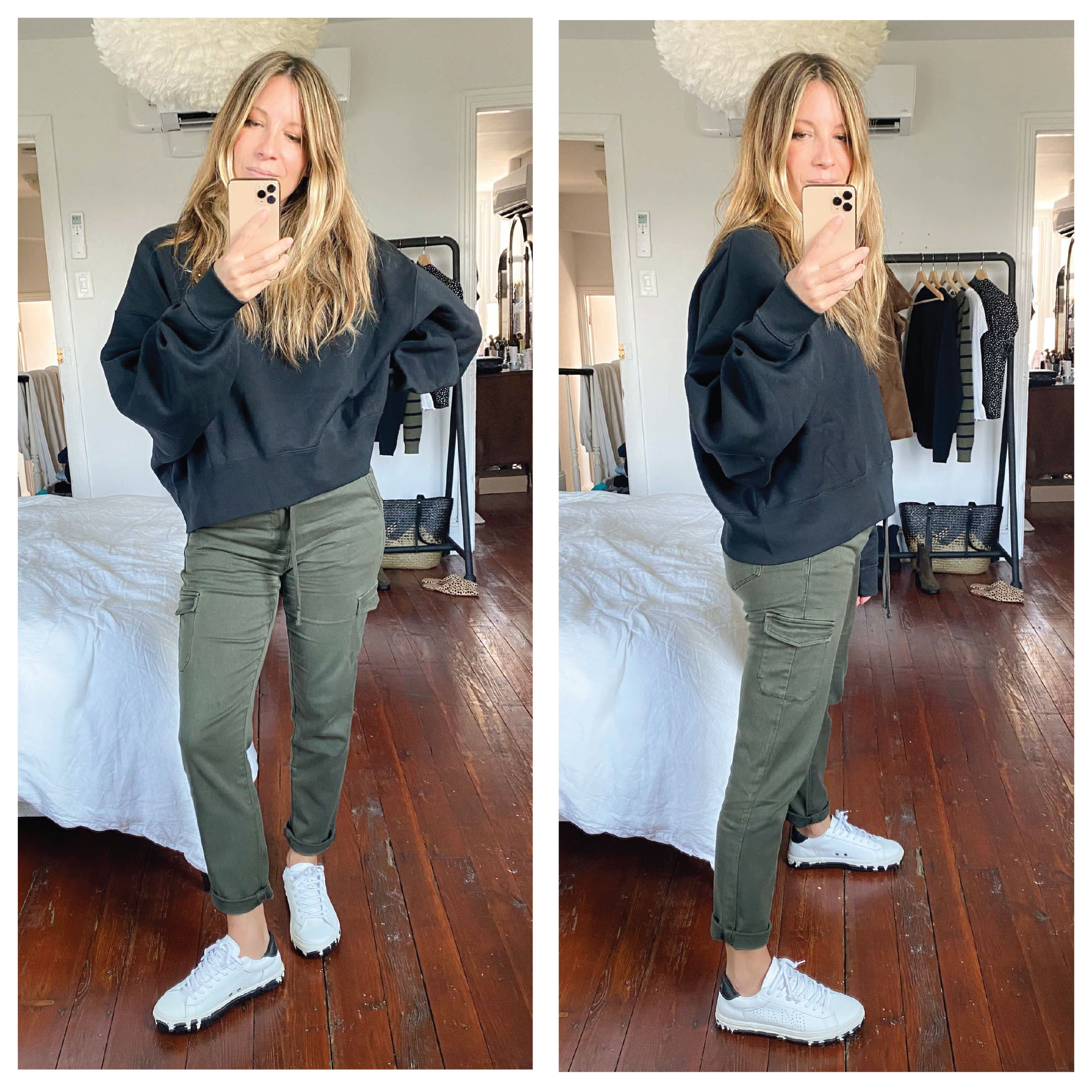 The green PAIGE cargo pants are kiiinda perfect for all outfits: with Vans, animal print, monochromatic looks, heels...snag this #NSale gem.