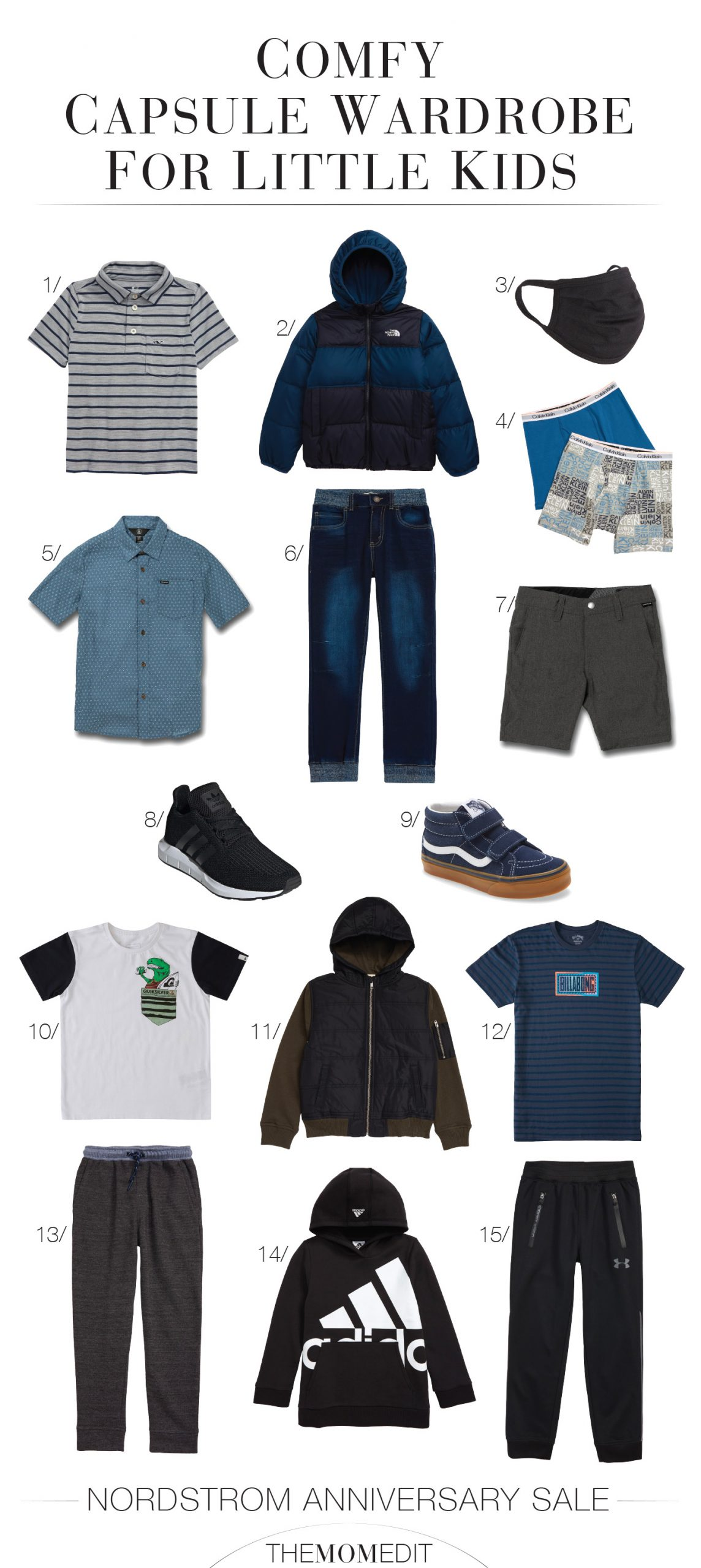 For remote learning, we're looking at soft, stretchy & comfy for kids' clothes. These Nordstrom Anniversary Sale fall capsule wardrobes do it.