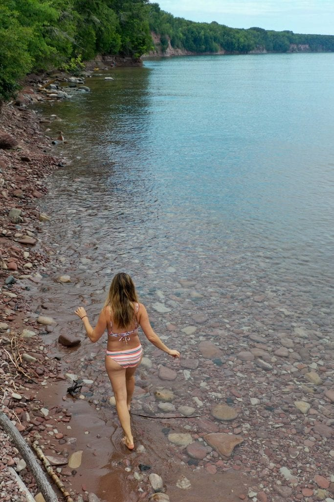 We're taking the kids on a little family friendly adventure in the Upper Peninsula...biking, berries & bikinis on a secret beach in Michigan.