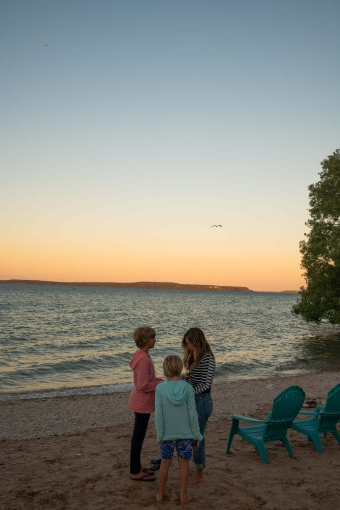 A night at The Breakers Resort in St. Ignace during our road trip (w/ their comforting COVID-19 safety) gave us peace on Lake Huron's beach.