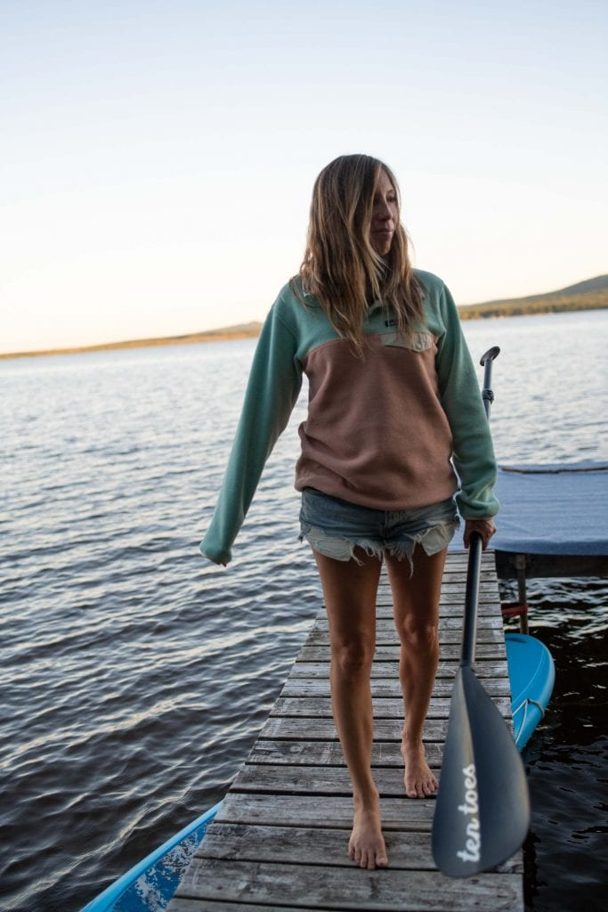 Stay-put swimwear, cozy fleece by Patagonia or The North Face & a camping couch...Backcountry offers all we need for lakeside adventures.