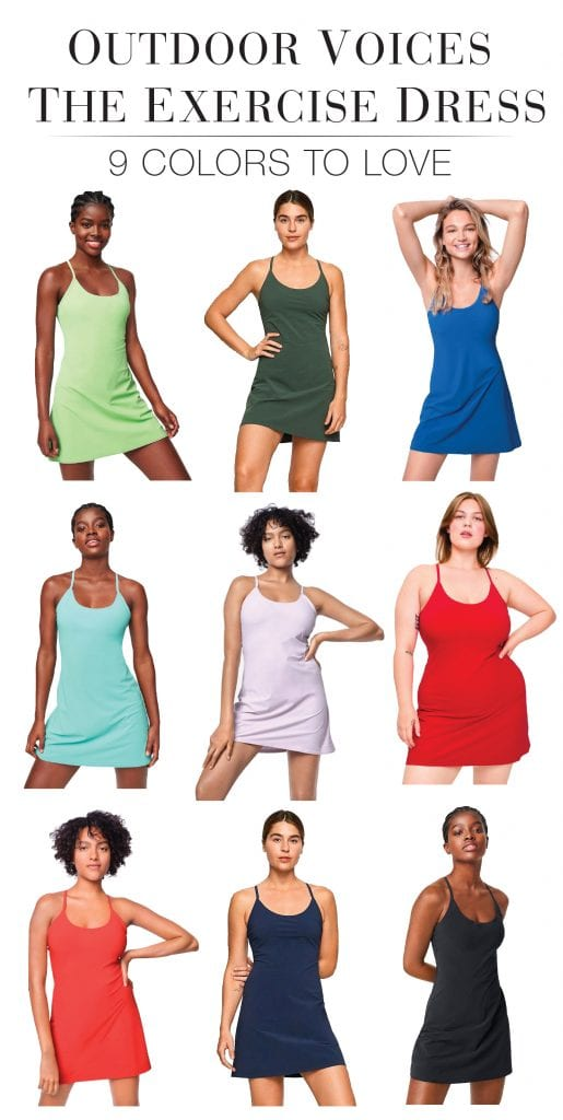 The Outdoor Voices exercise dress is the perfect sporty dress (oh, hey shorts underneath). In tons of colors, 1,600+ reviews & almost a full 5 stars.