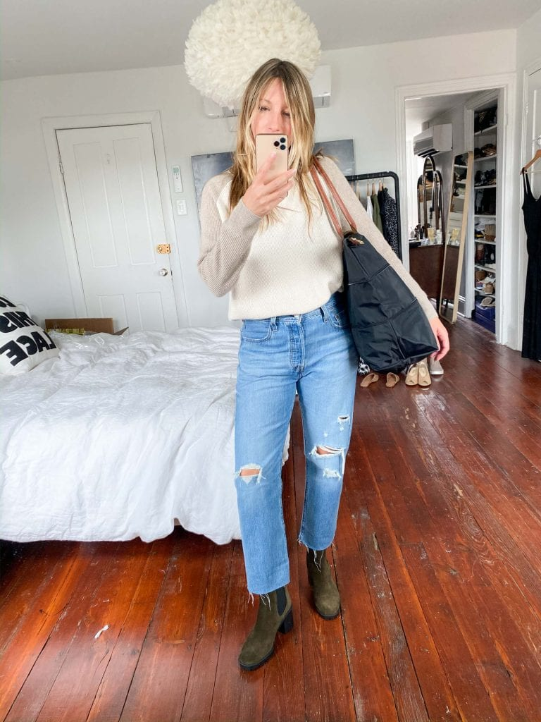 Levi's 501 jeans -- part mom jean + boyfriend jean -- are tricky. So we styled the 10 best shoes & boots (Vans to Docs) to wear w/ 'em.
