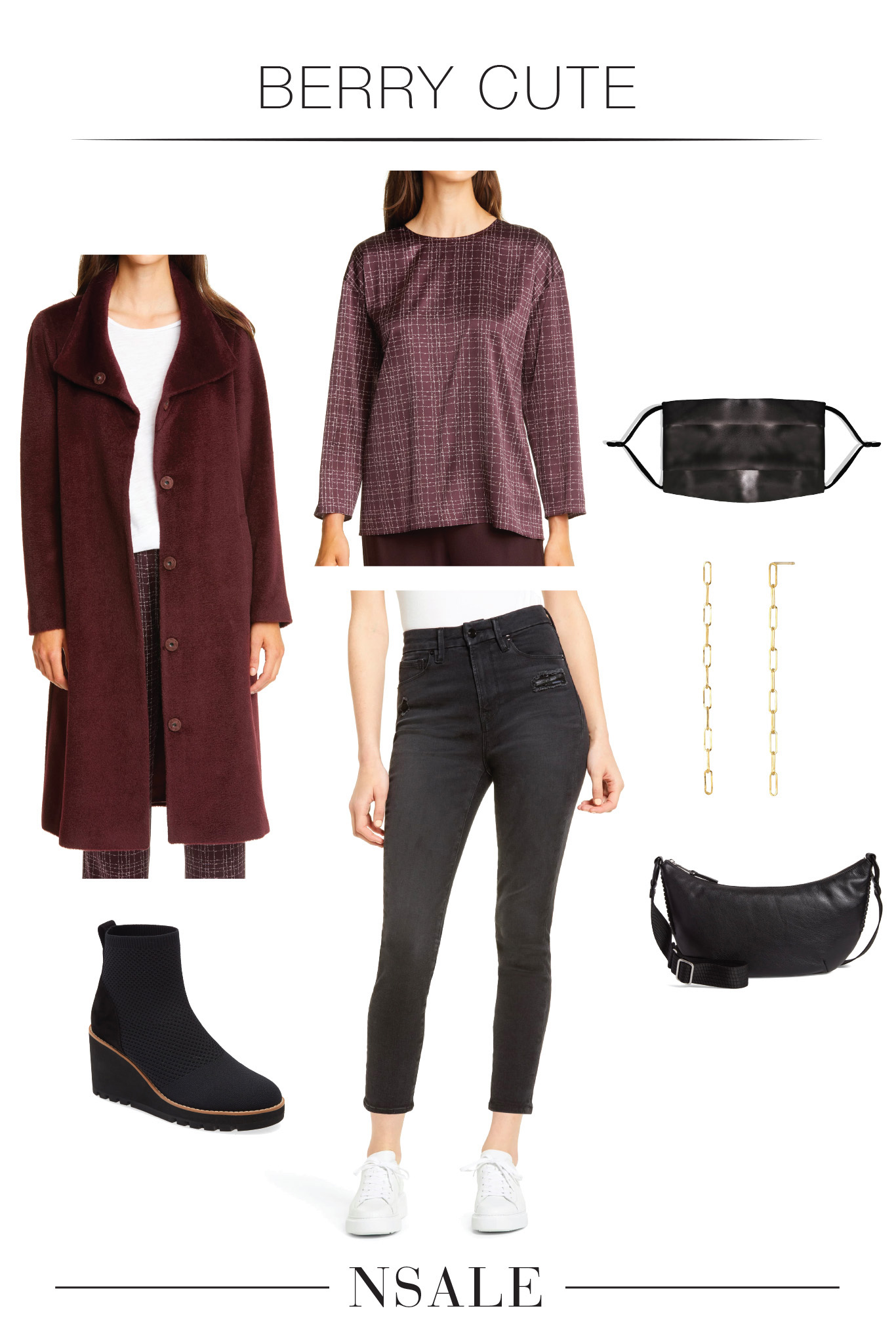 A gorgeous EILEEN FISHER coat + a silk blouse that will look fab tucked into high-rise jeans or with comfy joggers. The #NSale is bringing the deals.