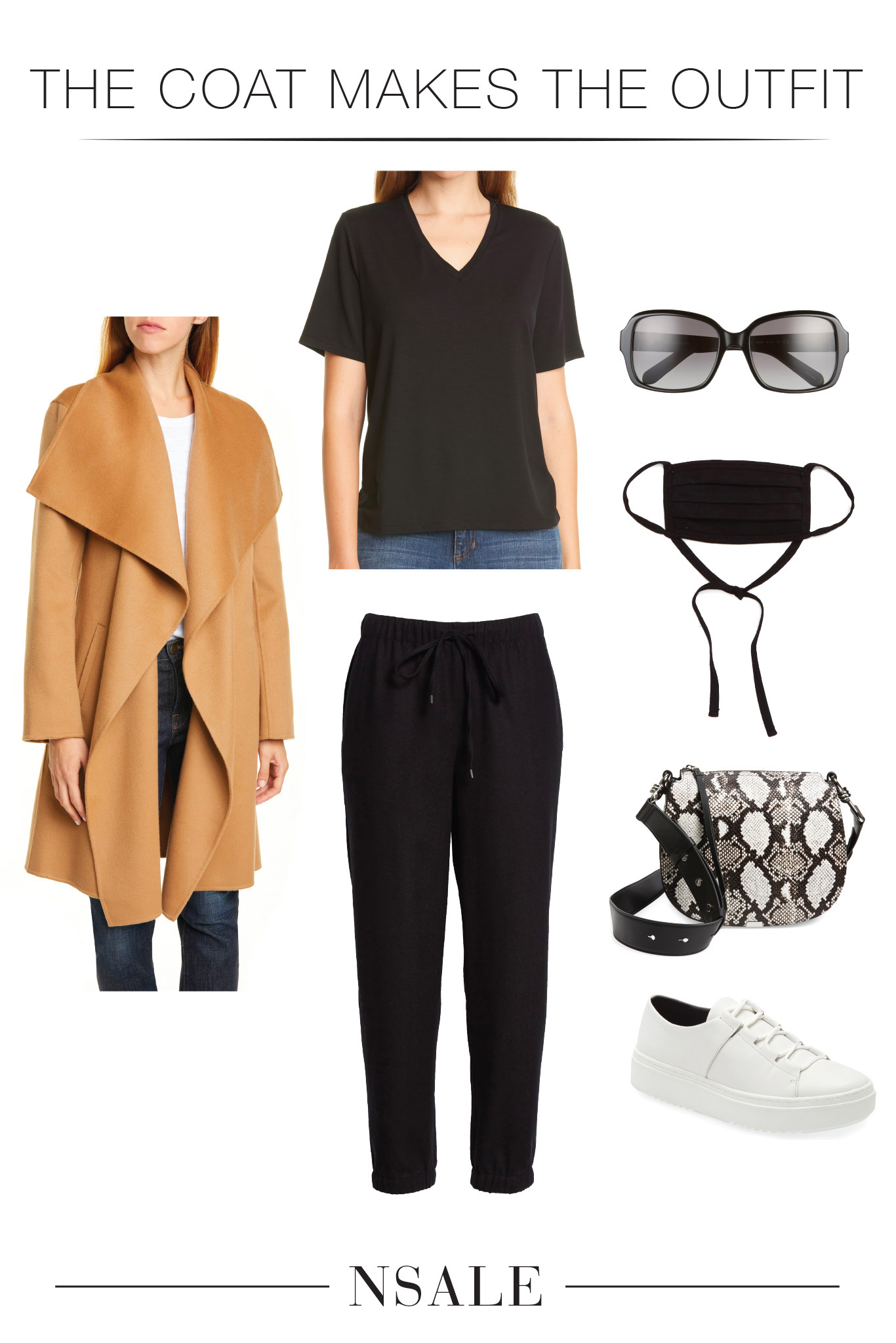 Hello...EILEEN FISHER wool joggers in the #NSale?? An instant couch-to-chic outfit. Add a fab coat, an eco-conscious v-neck tee & comfy cute sneaks.