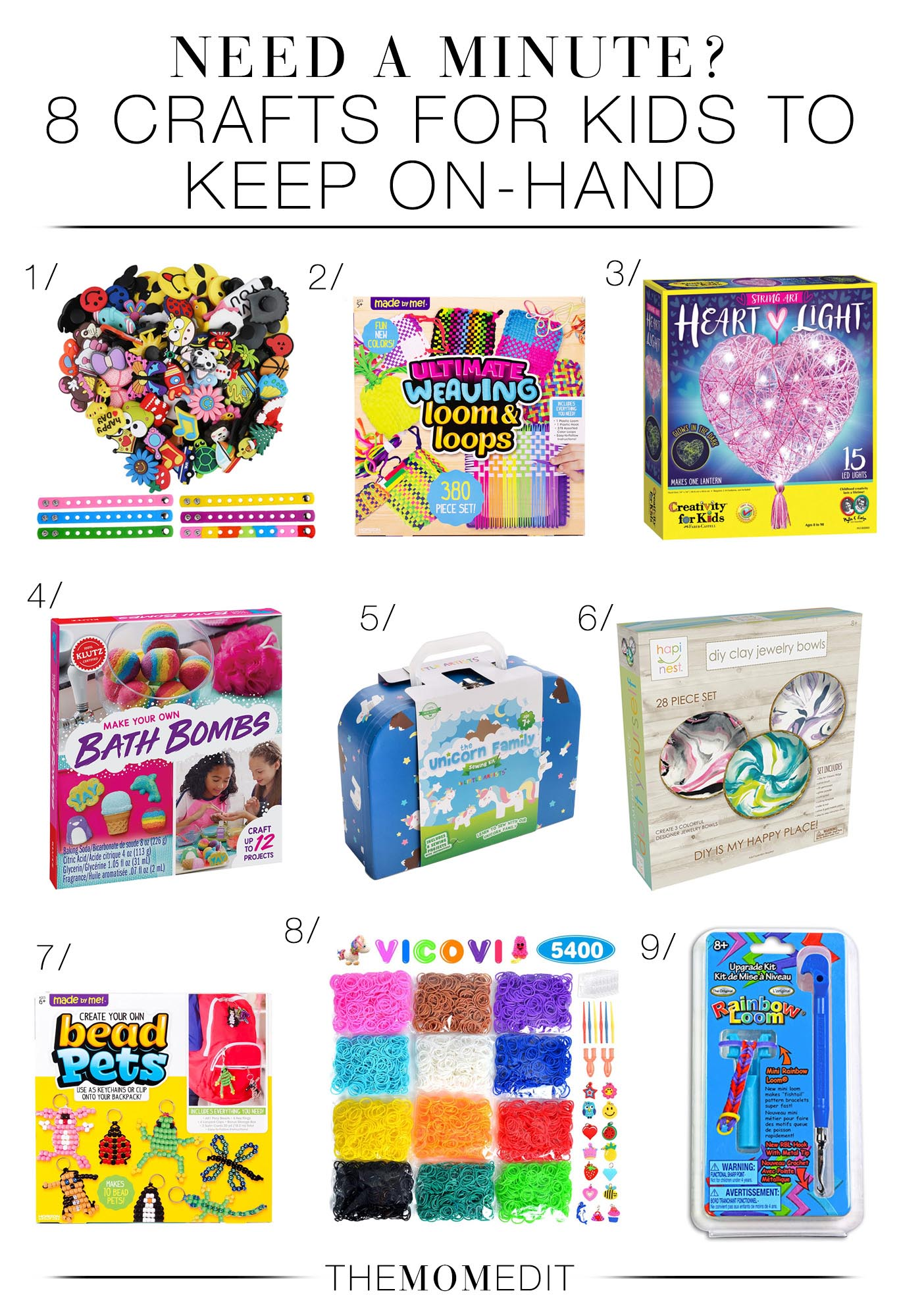 Fun quarantine activities for kids? On it! We're rounding up 8 easy craft kits for kids at home -- think rainbows, unicorns, beads & bracelets.