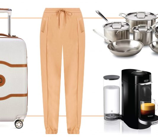 Bloomingdale's has seriously chic workout gear + several problem solvers. White jeans. All-Clad pans. Pants that feel like joggers (but look upscale)...