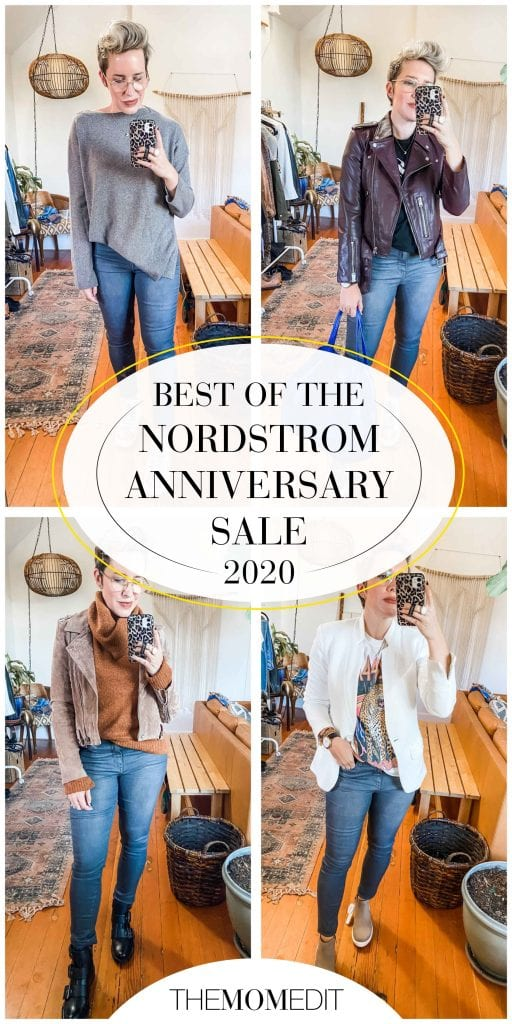 AllSaints Balfern Leather jacket, a water-resistant moto-style trench, cute sweaters & blazers...this Nordstrom Anniversary Sale edit is GOOD.