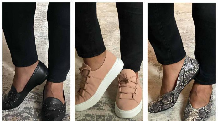 From animal print ballet flats to sustainable EILEEN FISHER platform sneakers, 4 stylish pairs of comfy shoes perfect for standing at work all day.