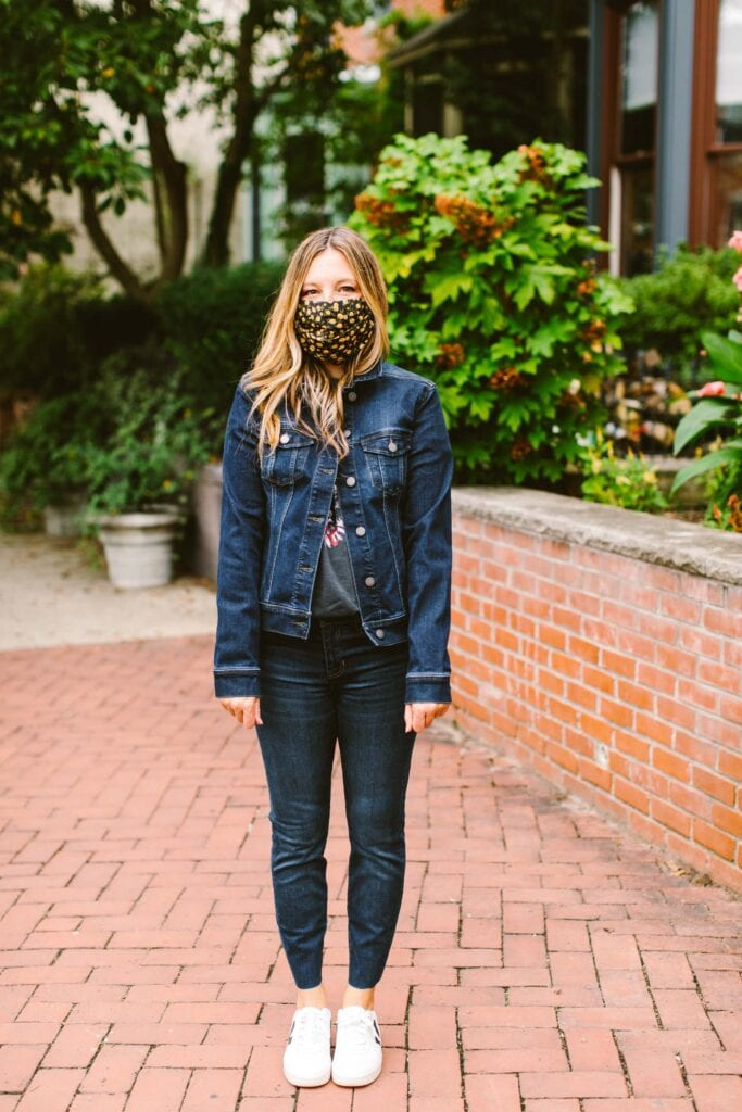 You guys...there are jeans involved, too, but we need to talk about this sustainable denim jacket by Liverpool. Cute, soft, affordable...SOLD.
