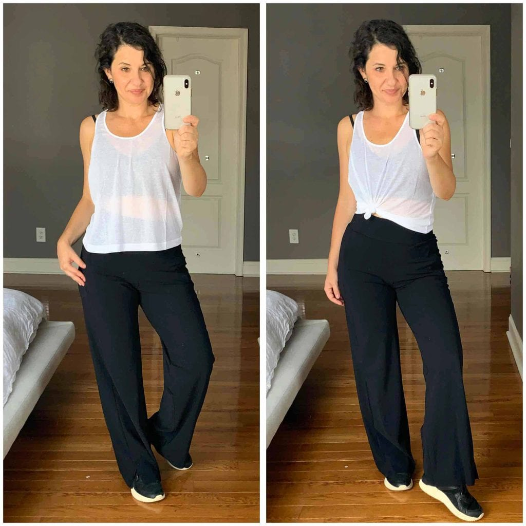 Bored & ready for a fresh take on workout pants, I searched Athleta for cute joggers & workout pants that aren't skin-tight. Behold my try-on...