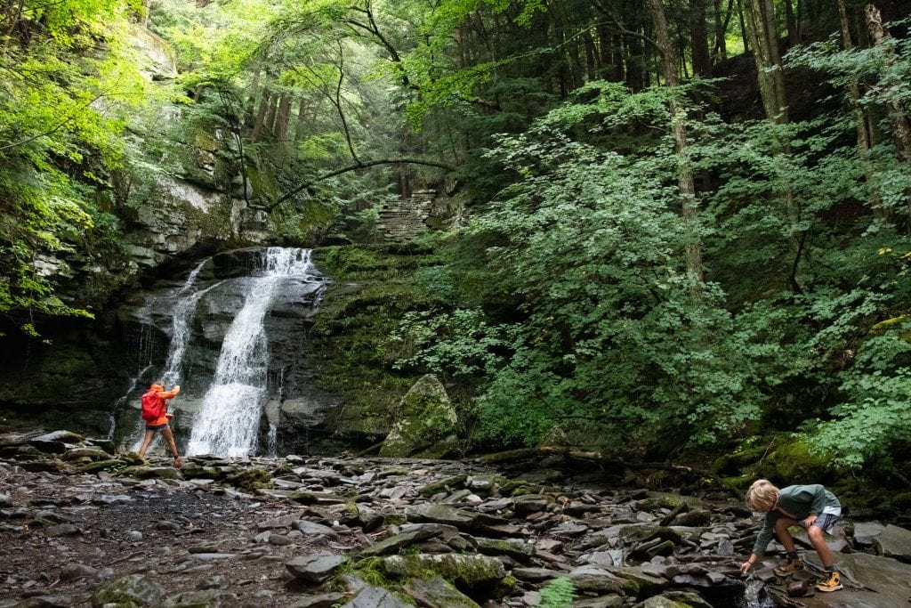 A Catskills getaway hit the family adventure spot. The deets for hiking the trails at Russell Brook Falls (+ what to wear & eat), inside.