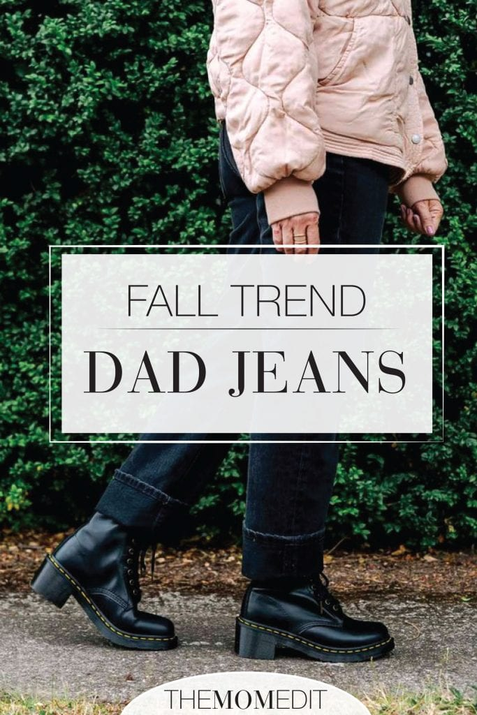 Dad jeans. The logical progression from mom jeans. High-waist, straight leg denim is where it's at. How to wear black Topshop dad jeans...